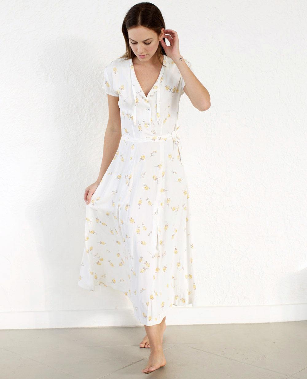 TheClothespinn.com | Colette Dress Rosebud Print
