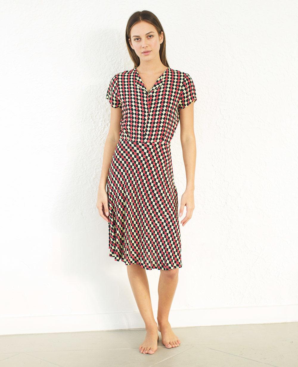 TheClothespinn.com | Daisy Dress Jacks Print
